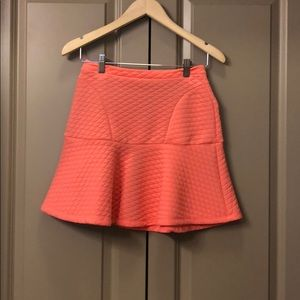 Peach free flowing skirt